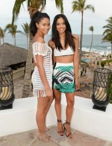 Chanel Iman and Heidy