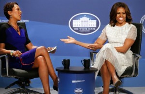 Michelle Obama and Robin Roberts