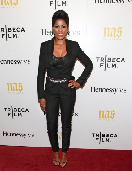 tamron hall attends nas time is illmatic new york premiere